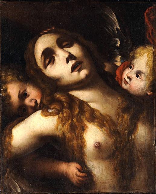 Francesco Cairo - Maria Maddalena in estasi - erotismo - arte - post coitum