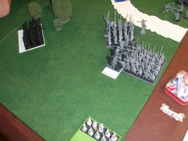 Warhammer Clash of Scouts Warriors of Chaos, High Elves, and Dwarfs
