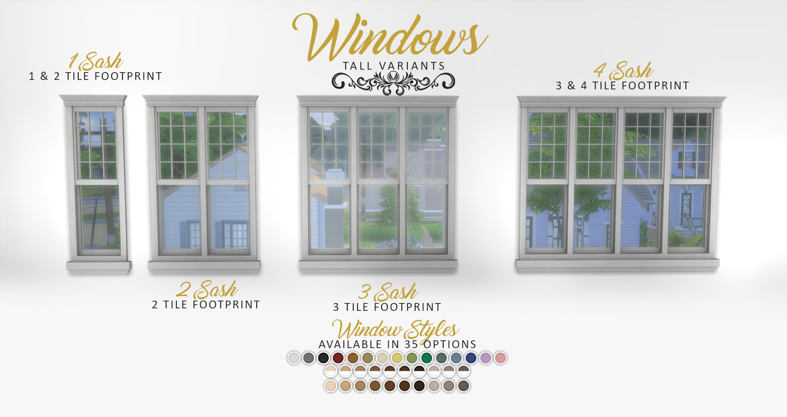 Simsational designs updated graciously georgian build set for Window design 4 4