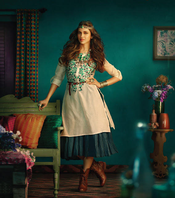 Deepika Padukone Kurtis Style Check At LKFABKART