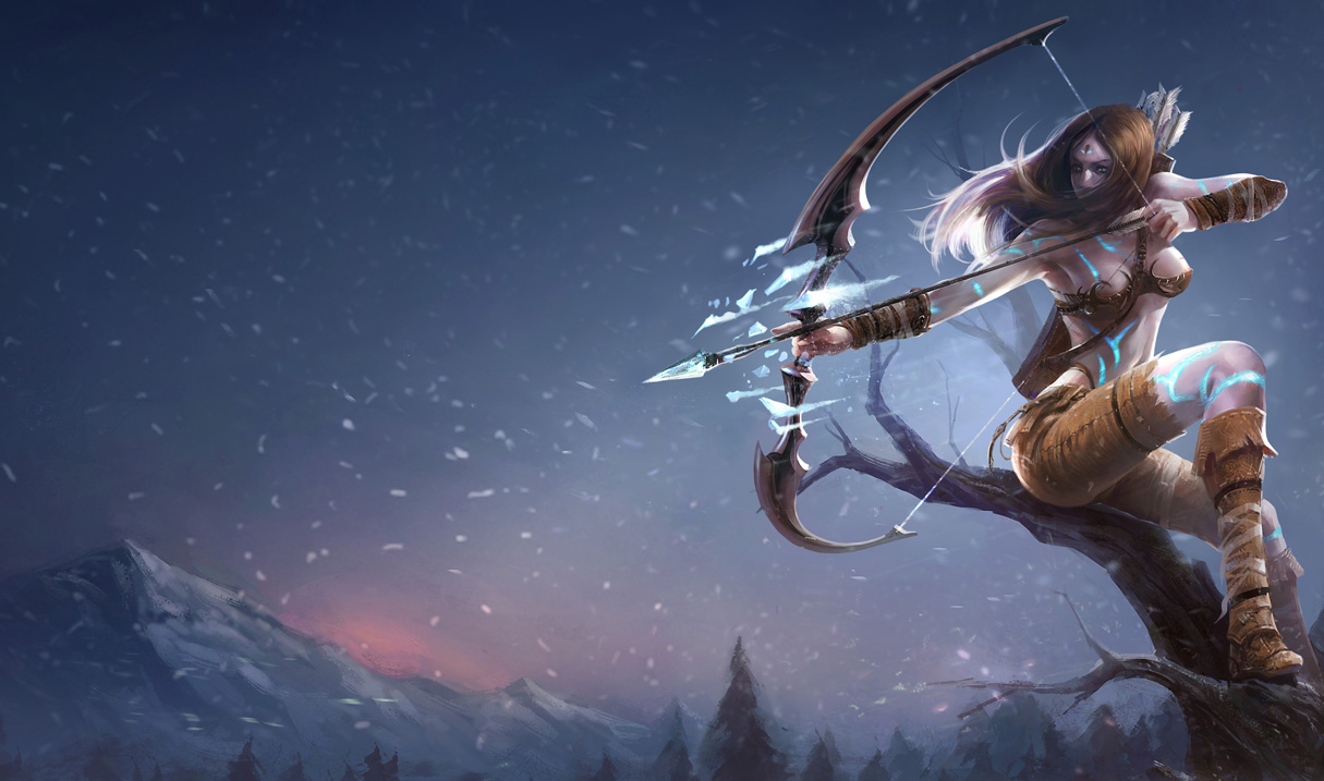 League Of Legends Ashe Wallpapers Chinese American Nerfplz Lol