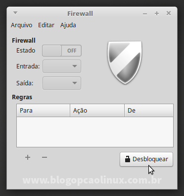Interface do Gufw