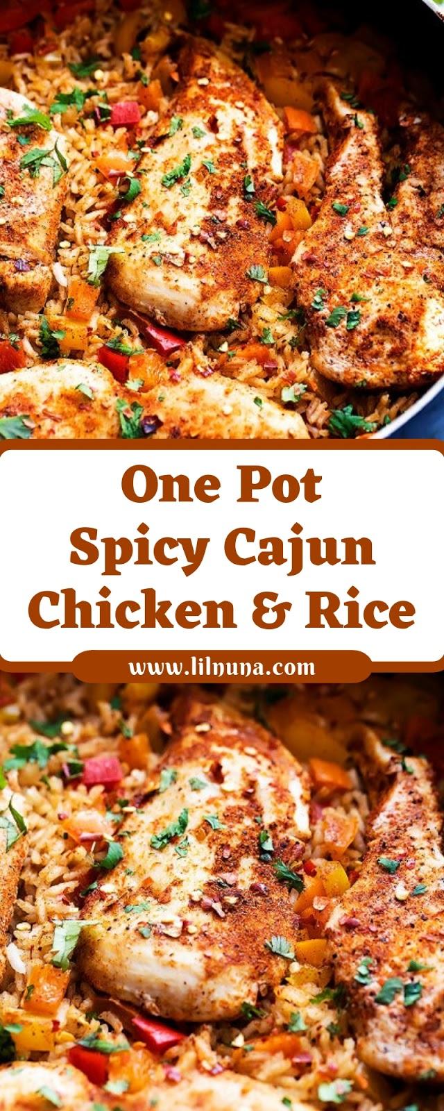 One Pot Spicy Cajun Chicken & Rice