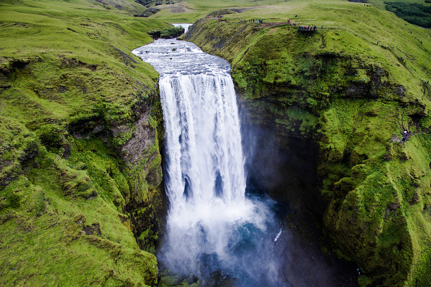 Skogafoss - Drone Captures Stunning Aerial Images of Iceland, In Case You Need Another Reason to Go