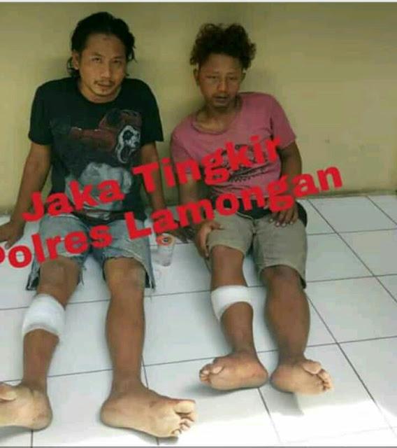 2 Pencuri Motor Dihadiahi Timah Panas Anggota Polisi Lamongan