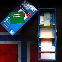 Fiszki słownictwo język norweski Cztery Głowy zestaw STARTER A1 flaga Norwegii