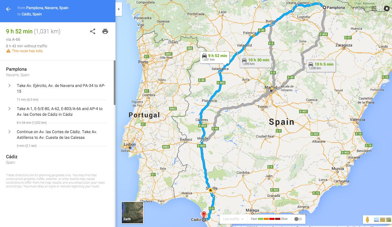 Costa De La Luz Spain Map.Cadiz Spain La Costa De La Luz Travelin With The Tmax