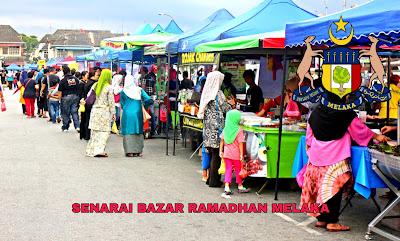 Senarai Bazar Ramadhan Melaka 2019 (Lokasi)