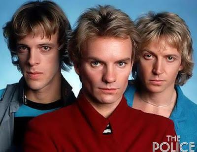 Rostros de los jóvenes de The Police
