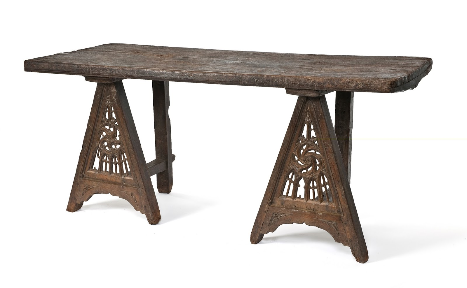 The Trestle Table As Found In The Medieval Bedroom In The Musee Des Arts  Decoratifs, Paris. While The Two Trestles Look Similar, There Is Some  Subtle ...