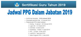 Jadwal Pelaksanaan PPG Dalam Jabatan Tahun 2020