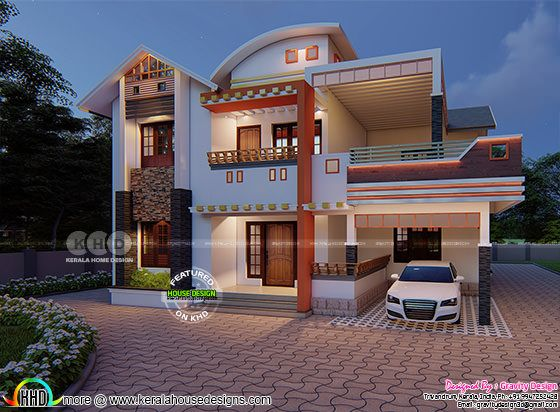 Outstanding modern 4 BHK home in 2300 square feet