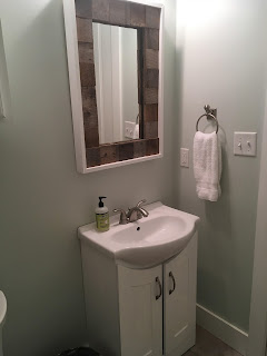 Barnwood Scrap Mirror Frame - AFTER PHOTO