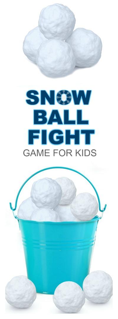 INDOOR SNOWBALL FIGHT: DIY GAME FOR KIDS #wintergamesforkids #winteractivitiesforkids