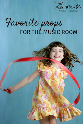 Favorite props for the music room: Ideas for ribbons, tennis balls, and more, for your music lessons!