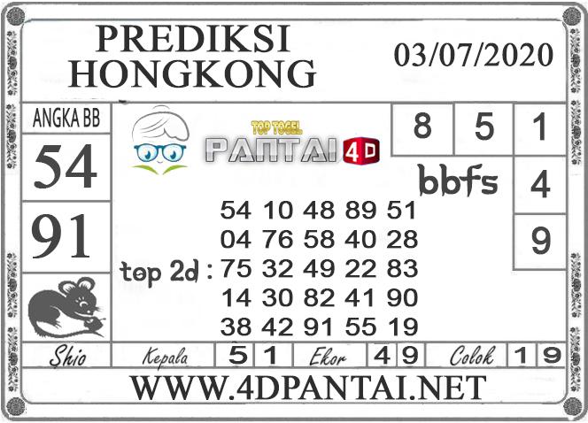 PREDIKSI TOGEL HONGKONG PANTAI4D 03 JULI 2020
