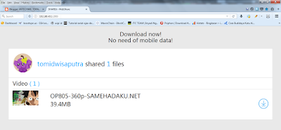 cara share file dari android ke pc dengan webshare