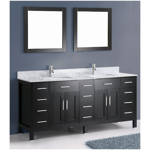 Simple  Adler Black Bathroom Vanity VAN036T  Bathroom Vanities  Bath