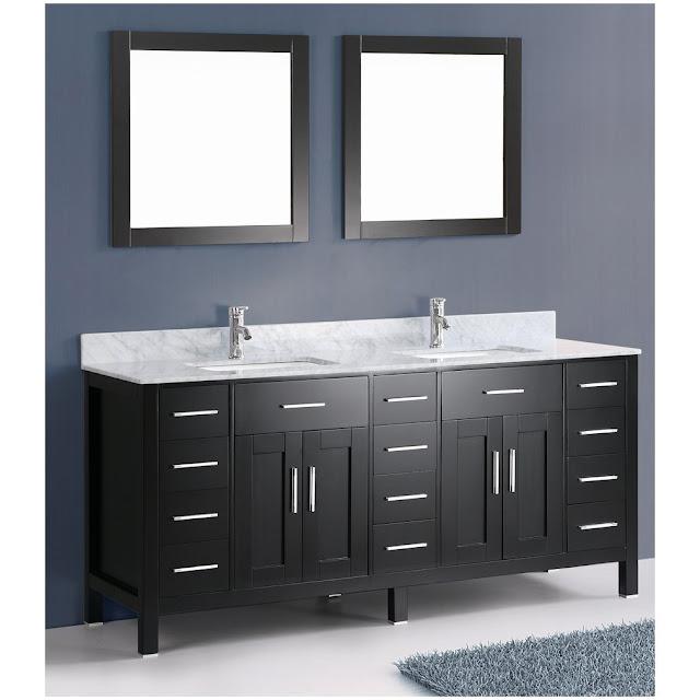 Antique Bathroom Vanities Lux Look with Black Bathroom