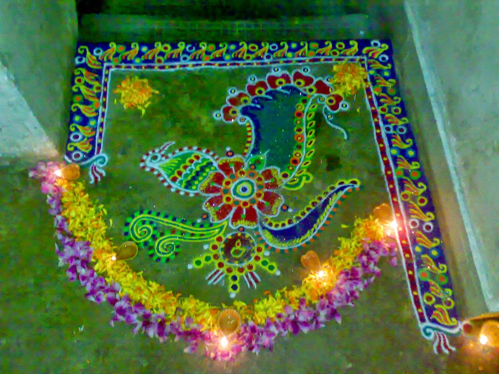 Kolam for Diwali 10