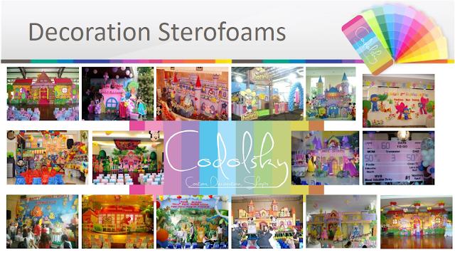 dekorasi styrofoam, dekorasi ultah, Paket Ultah murah, EO ultah, Styrofoam decoration