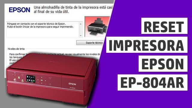 resetear almohadillas impresora Epson EP804AR