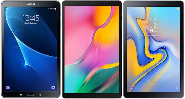 Samsung Galaxy Tab A 10.1 (2016) vs Samsung Galaxy Tab A 10.1 (2019) vs Samsung Galaxy Tab A 10.5 (2018)