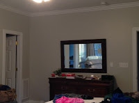 before picture of dresser area in bedroom