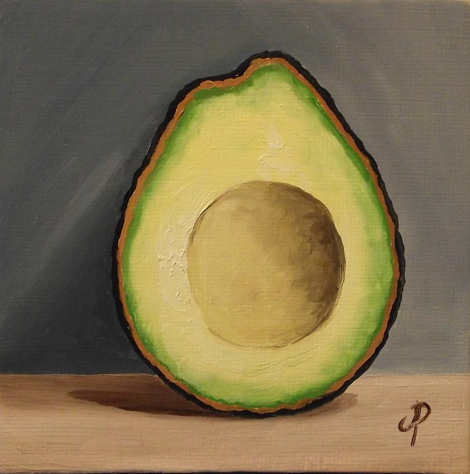 Jane Palmer Fine Art: Avocado! Whole, half & the other half