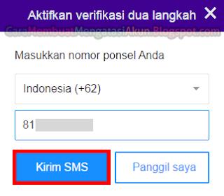 sms verifikasi 2 langkah yahoo