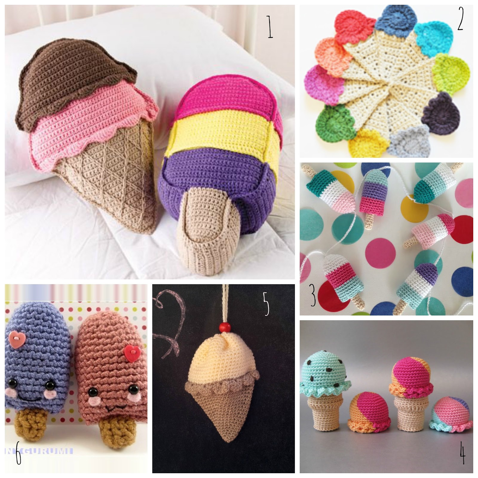 sol de noche deco crochet free patterns party ice cream. Black Bedroom Furniture Sets. Home Design Ideas