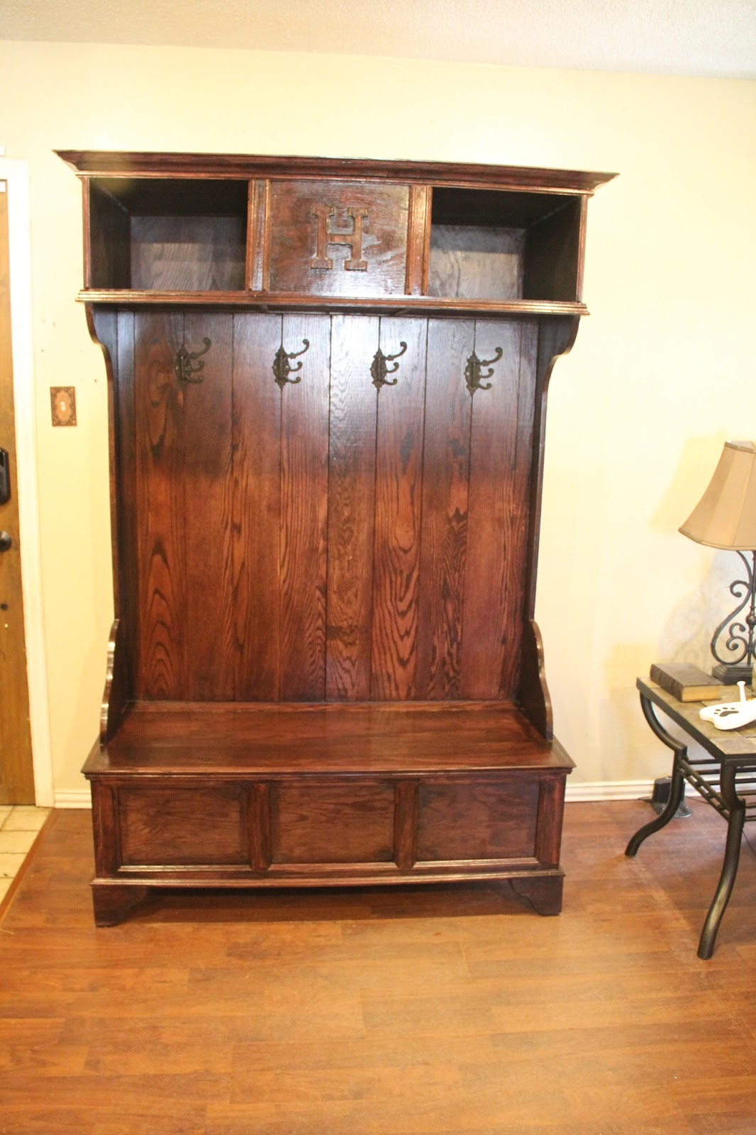 Rusty Hinge Hall Tree Gun Cabinet