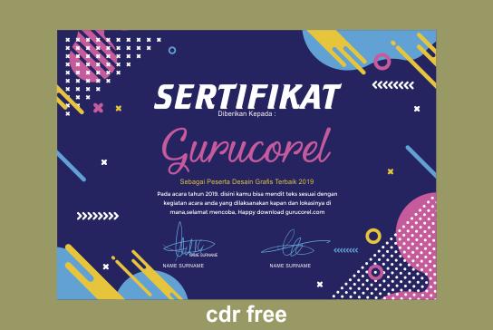 desain sertifikat cdr
