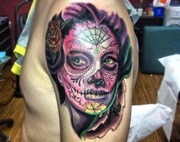 Tatuagens Desenhos Tatuagem E Piercings Santa Muerte Tatuagens