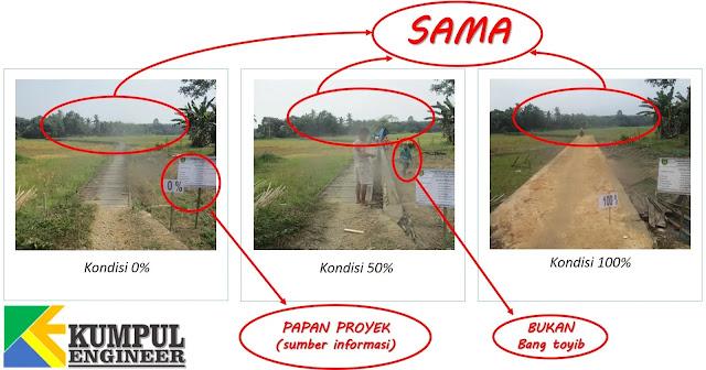 Jalan usaha tani, cara fhoto proyek, jalan, sawah