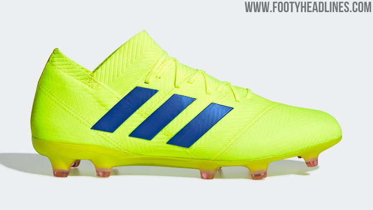 new concept b55c6 55277 Adidas Nemeziz 18+ - Solar Yellow  Blue