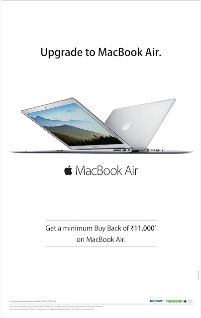 Upgrade to MacBook Air with minimum buy back of Rs 11,0000 | Discount offer
