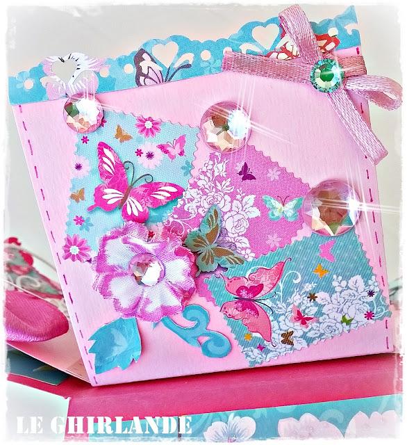 Explosion box in rosa fucsia Farfalle