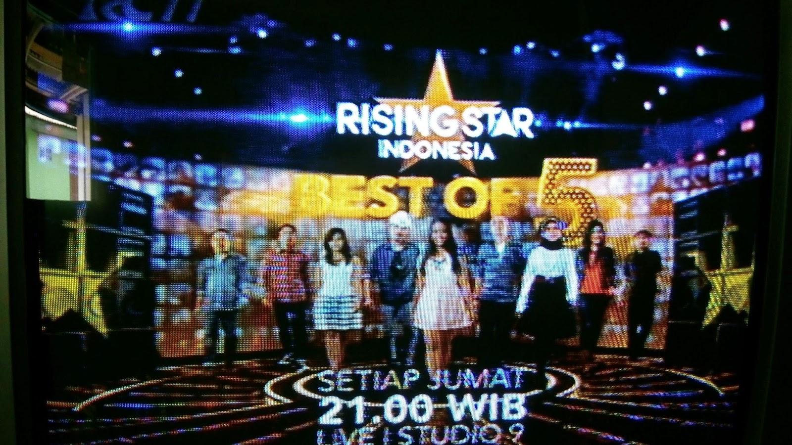 judul lagu yang dinyanyikan 5 besar rising star, nama peserta 5 besar RSI 2014,