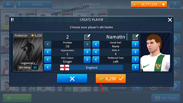 cheat dls 19 create player sendiri