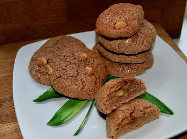Galletas de cacao con cacahuetes