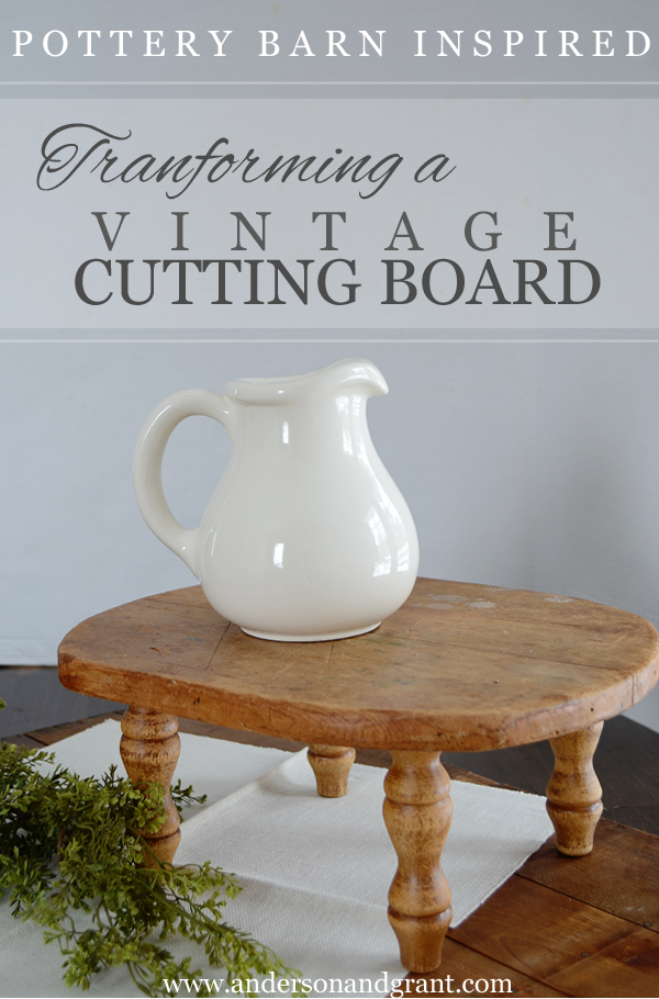 | DIY project inspired by Pottery Barns Wooden Pedestal |