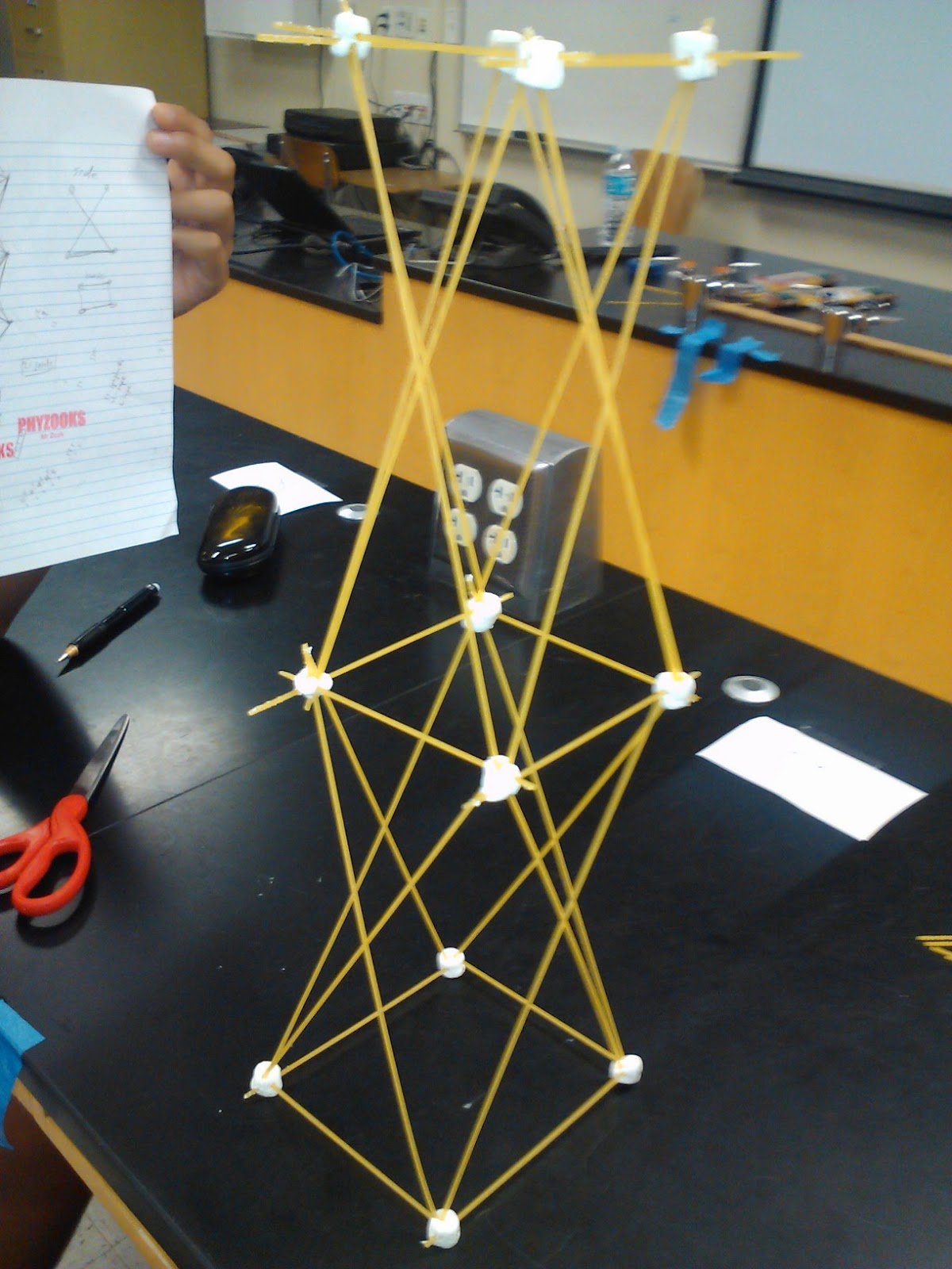 Spaghetti And Marshmallow Tower Game