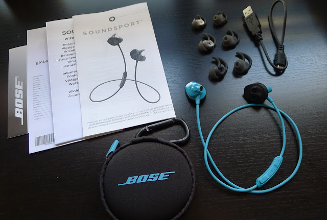 Bose SoundSport Wireless - Packaging contents