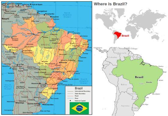 peta dan profil brazil