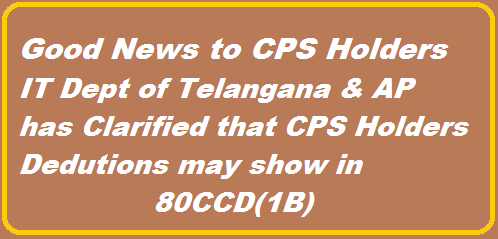 Income Tax Department clarification on CPS Deductions under 80CCD | Good News to CPS Holders | Clarification on deductions section http://www.tsteachers.in/2016/02/income-tax-dept-clarifiation-on-cps-deductions-80ccd-1b-ap-ts.html