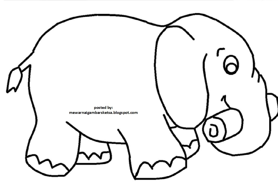 Kumpulan Sketsa Gambar Gajah