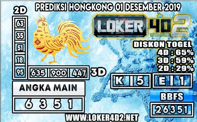 PREDIKSI TOGEL HONGKONG POOLS LOKER4D2 01 DESEMBER  2019