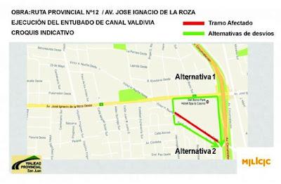 """El primer tramo afectado será el de calle Nuche entre Circunvalación (Oeste) y Hermógenes Ruiz. Se entubará el canal para lograr el ensanchado de la calzada. Este plan está pensado para mejorar la viabilidad de la reconocida """"avenida Central""""."""