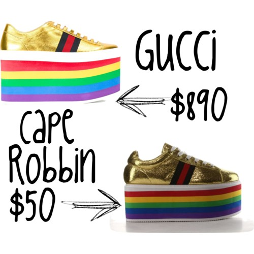 Gucci platform sneakers look for less